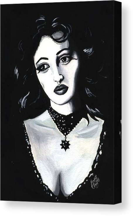 Monica Canvas Print featuring the painting Monica by Scarlett Royal