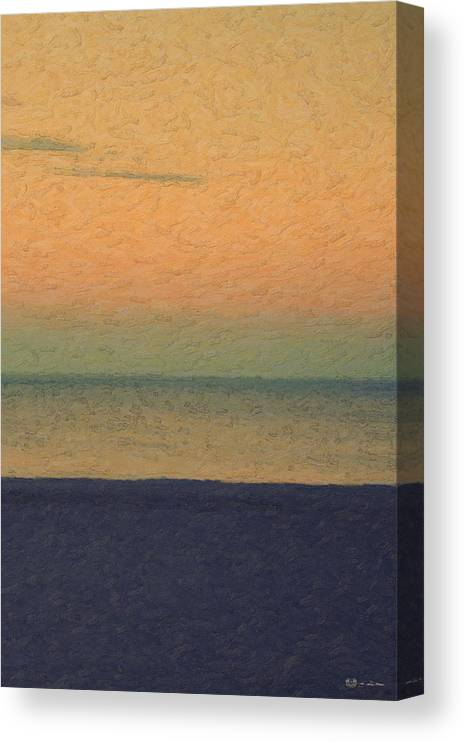 �not Quite Rothko� Collection By Serge Averbukh Canvas Print featuring the photograph Not quite Rothko - Breezy Twilight by Serge Averbukh