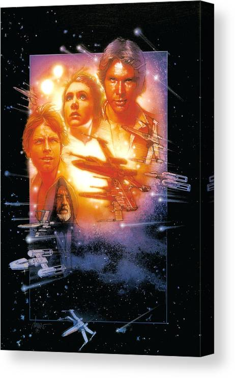 Star Wars Episode Iv A New Hope 1977 Canvas Print Canvas Art By Geek N Rock