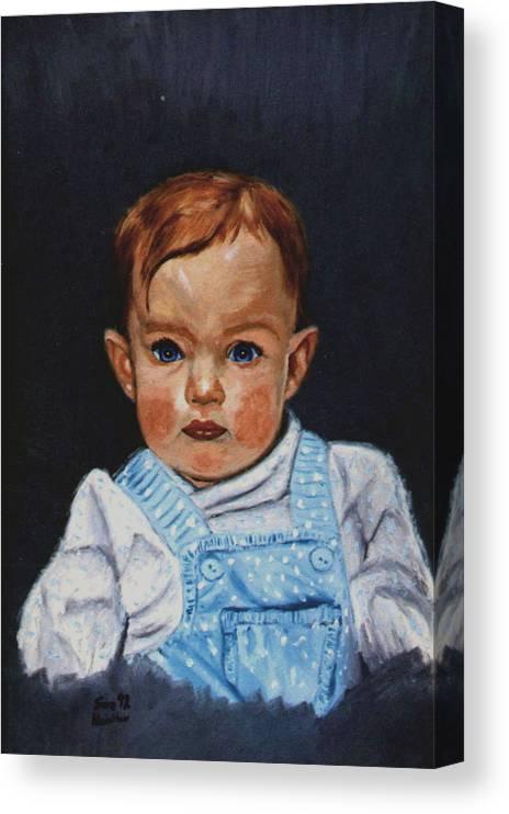 Portrait Canvas Print featuring the painting Megan by Stan Hamilton