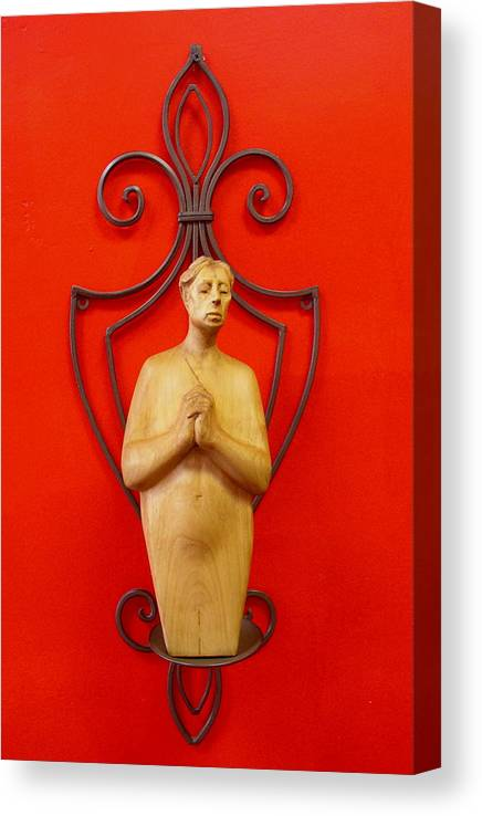 Figure Canvas Print featuring the sculpture Untitled 2 by Victor Amor
