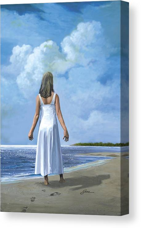 Book Cover Canvas Print featuring the painting The Awakening by Harold Shull