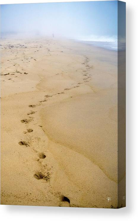 Nantucket Canvas Print featuring the photograph A Walk on the Beach by Tom Romeo