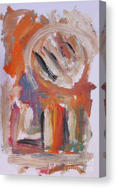 Abstract Canvas Print featuring the painting Abstract 6833 by Michael Henderson