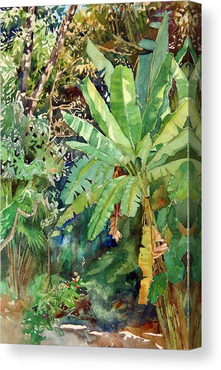 Peter Sit Canvas Print featuring the painting Banana by Peter Sit