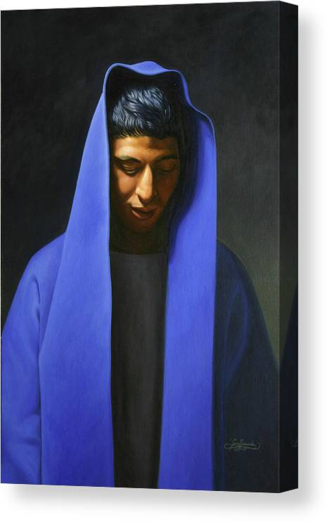 Canvas Print featuring the painting Blue by Gary Hernandez