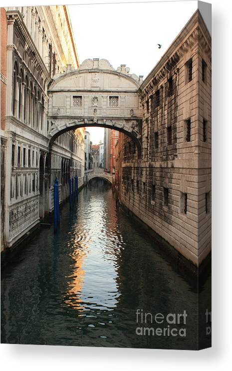 Venice Canvas Print featuring the photograph Bridge of Sighs in Venice in Morning Light by Michael Henderson