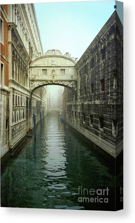 Venice Canvas Print featuring the photograph Bridge Of Sighs In Venice by Michael Henderson
