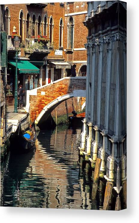 Venice Canvas Print featuring the photograph Canal Next To Church Of The Miracoli In Venice by Michael Henderson