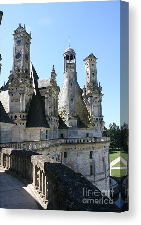 Chimney Canvas Print featuring the photograph Chimney From Chambord - Loire by Christiane Schulze Art And Photography