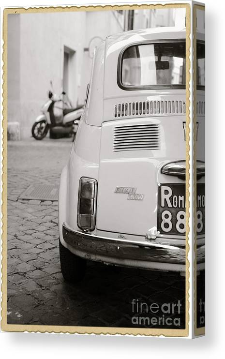 Italy Canvas Print featuring the photograph Cinquecento Black and White by Stefano Senise