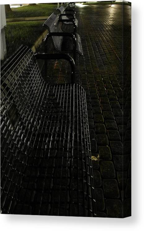 Night Canvas Print featuring the photograph Empty by Carl Perry
