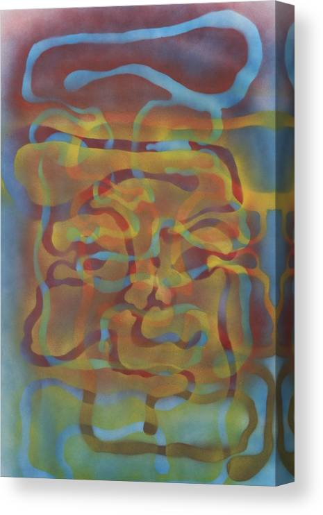 Face Canvas Print featuring the painting Face Of Colors by Roy Woods