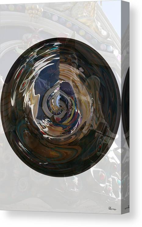 Women Lady Girl World Space Portal Relm Escape Abstract Canvas Print featuring the photograph Faded Lady by Andrea Lawrence