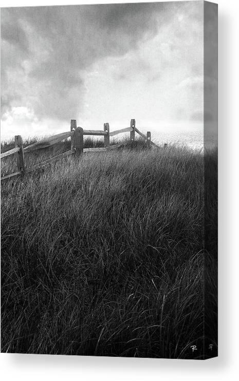 Landscape Canvas Print featuring the photograph Fence by Tom Romeo