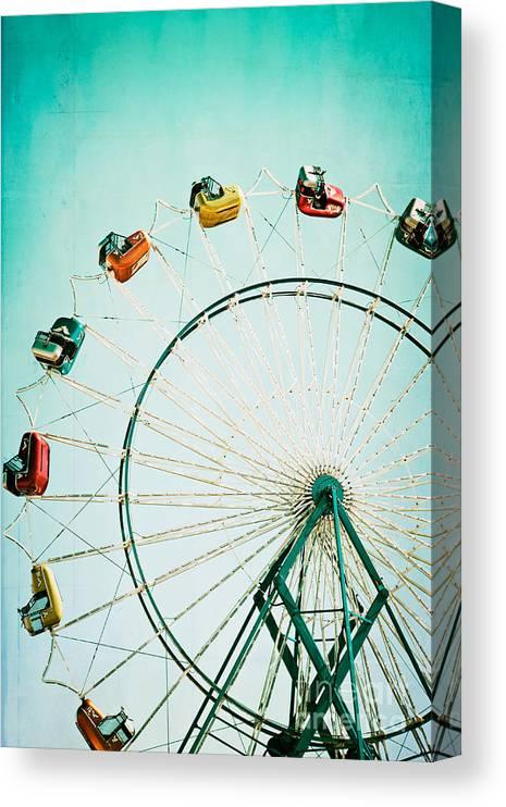 Ferris Wheel Canvas Print featuring the photograph Ferris Wheel 2 by Kim Fearheiley