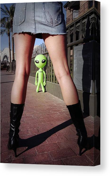 Alien Canvas Print featuring the photograph For Alien Eyes Only by Richard Henne
