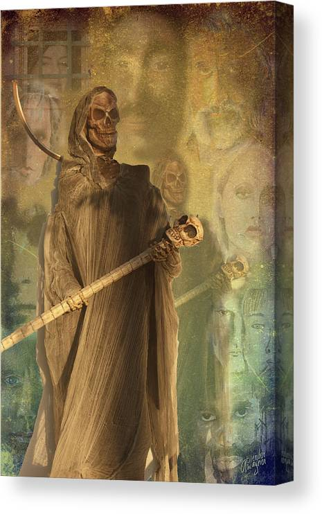 Skeleton Canvas Print featuring the photograph Forgotten Documents by Arline Wagner