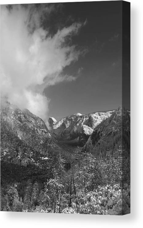 Half Dome Canvas Print featuring the photograph Half Dome Winter by Travis Day