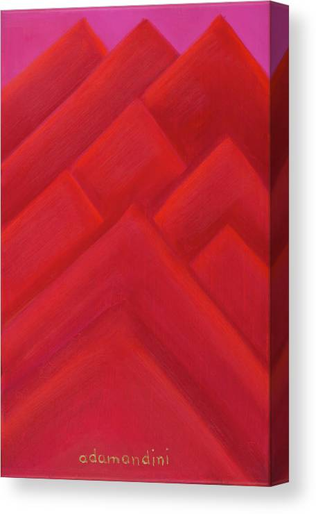 He Tu Canvas Print featuring the painting He Tu Fire by Adamantini Feng shui