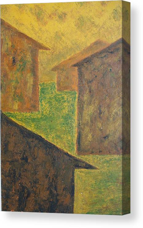 Canvas Print featuring the print Houses of 1954 by Biagio Civale