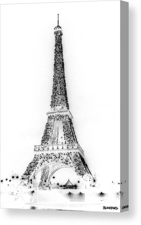 Eiffel Tower Canvas Print featuring the photograph Inverted Eiffel Tower by Al Blackford