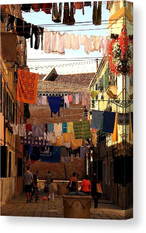 Venice Canvas Print featuring the photograph Laundry Day in Venice by Michael Henderson