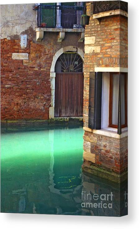 Venice Canvas Print featuring the photograph Light On Canal In Venice by Michael Henderson
