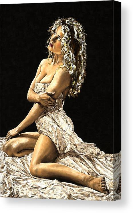 Nude Canvas Print featuring the painting Luminous by Richard Young