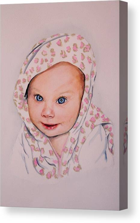 Portrait Canvas Print featuring the painting Madi by Diane Ziemski