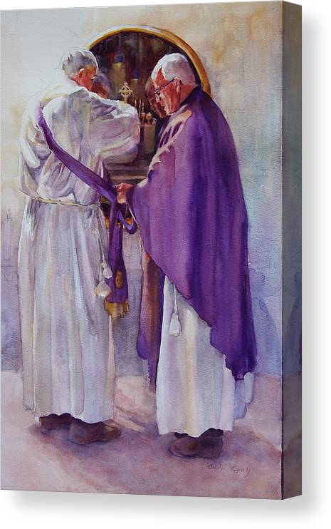 Figure Canvas Print featuring the painting Mirroring Faith by Carolyn Epperly