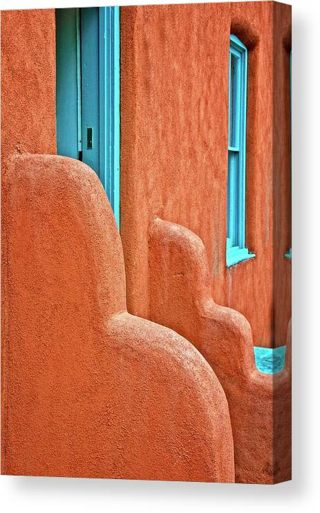 Door Canvas Print featuring the photograph New Mexico Style by Zayne Diamond Photographic