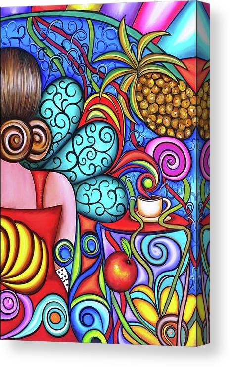 Cuba Canvas Print featuring the painting On My Mind by Annie Maxwell