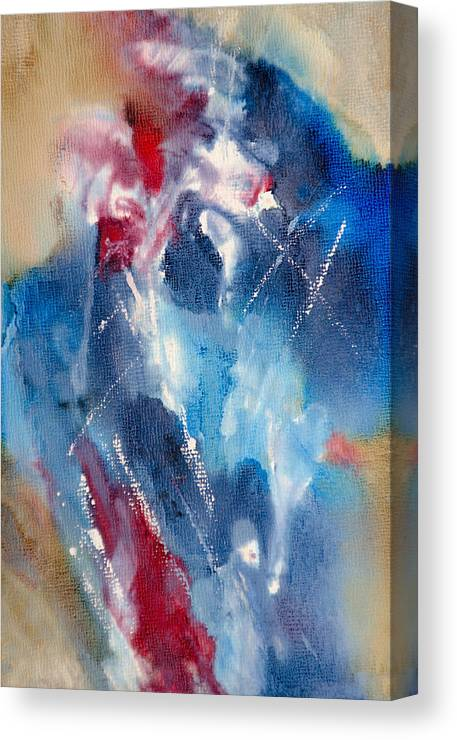 Abstract Canvas Print featuring the painting Organized Chaos - A - by Sandy Sandy