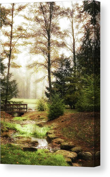 Autumn Canvas Print featuring the photograph Over the River by Tom Mc Nemar