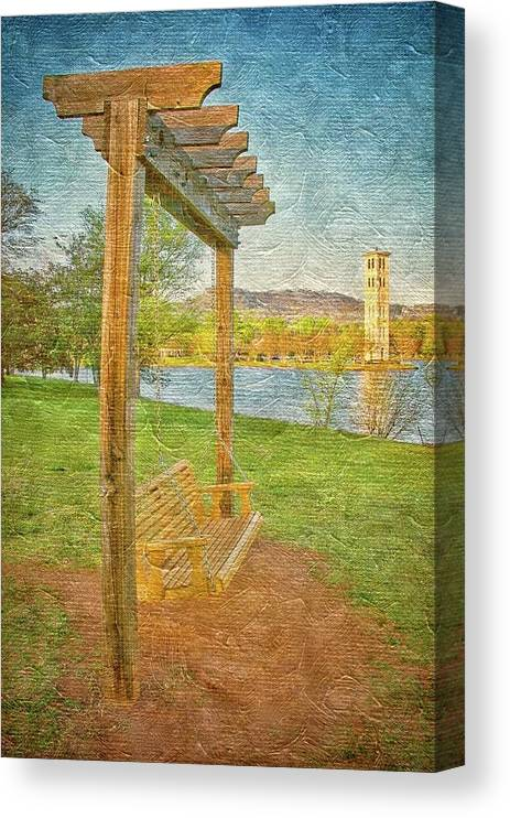 Swing Canvas Print featuring the photograph Ready to Swing at Furman, Greenville, South Carolina by Zayne Diamond Photographic