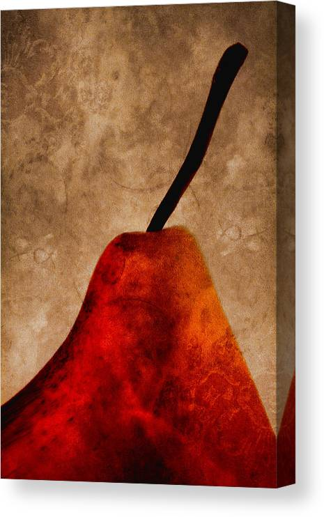Pear Canvas Print featuring the photograph Red Pear IIi by Carol Leigh