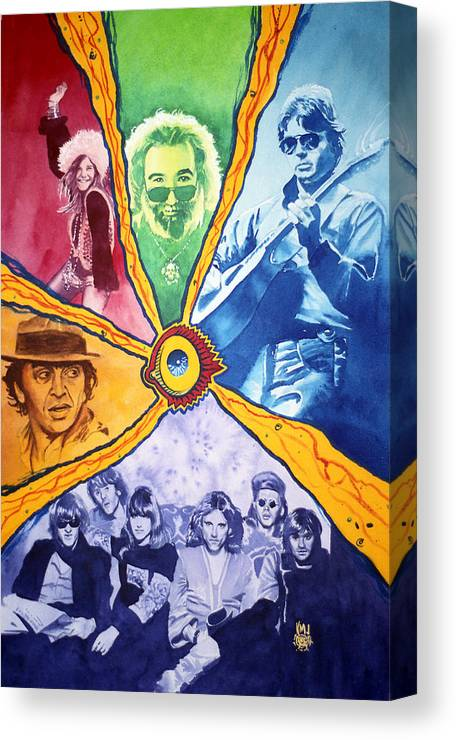 Janis Joplin Canvas Print featuring the painting San Francisco Rock by Ken Meyer jr