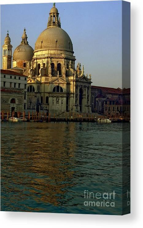Venice Canvas Print featuring the photograph Santa Maria Della Salute In Venice In Morning Light by Michael Henderson