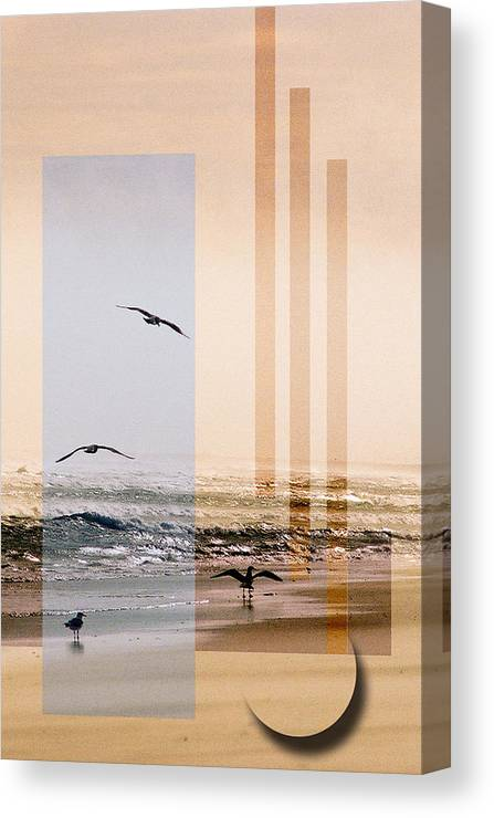 Abstract Canvas Print featuring the photograph Shore Collage by Steve Karol