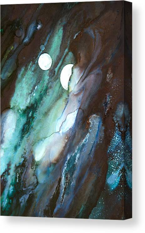 Abstract Canvas Print featuring the painting Soothing Sensations - B - by Sandy Sandy