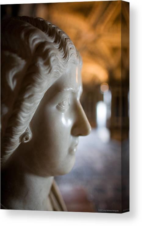 Italy Canvas Print featuring the photograph Statue by Luigi Barbano BARBANO LLC