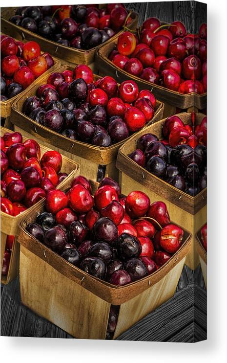 Sweet Cherries From A Cherry Orchard At The Cherry Point Farm Market Canvas Print Canvas Art By Randall Nyhof,White Kitchen Cupboards For Sale