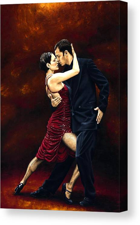 Tango Canvas Print featuring the painting That Tango Moment by Richard Young