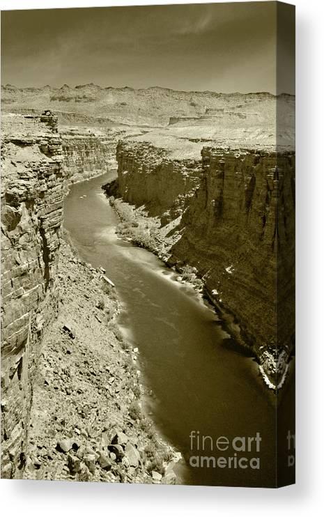 Colorado Canvas Print featuring the photograph The Colorado River by Pete Hellmann