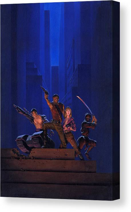 Space Canvas Print featuring the painting The Eliminators by Richard Hescox