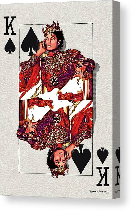 'the Kings' Collection By Serge Averbukh Canvas Print featuring the digital art The Kings - Michael Jackson by Serge Averbukh