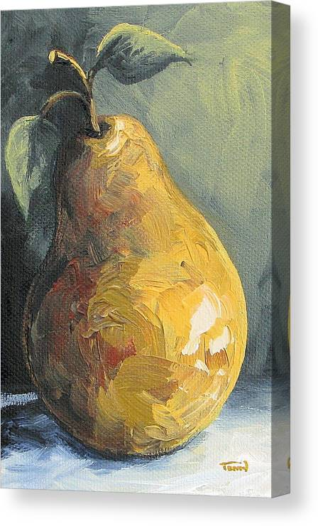 Pear Canvas Print featuring the painting The Pear Chronicles 014 by Torrie Smiley