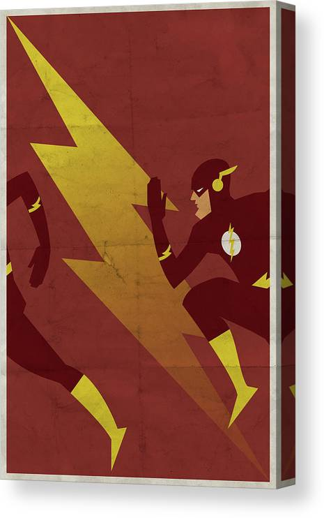 Fast Canvas Print featuring the digital art The Scarlet Speedster by Michael Myers