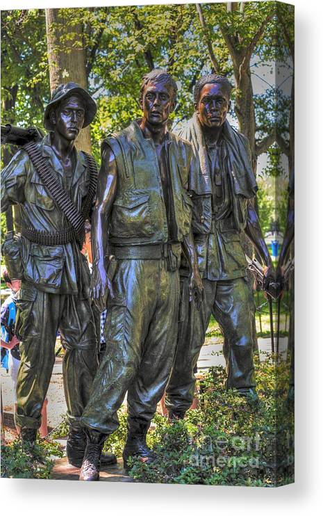 Viet Nam Canvas Print featuring the photograph Three Soldiers by David Bearden